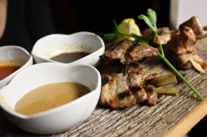 Beef Short Rib and Chicken Yakitori Plate